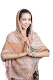 Pretty islamic woman smiling Stock Photography