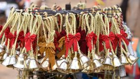 Pretty jingle bells , time for holidays and celebration,  Christmas time. Stock Image