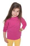 Pretty joyful little girl Royalty Free Stock Images