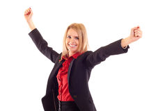 Pretty joyous business woman Stock Image
