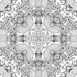 Pretty kaleidoscope background with floral designs Royalty Free Stock Photography