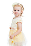 Pretty kid girl isolated Royalty Free Stock Image