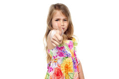Pretty kid showing thumbs up Royalty Free Stock Photo