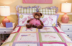 Pretty kids bedroom Royalty Free Stock Photo