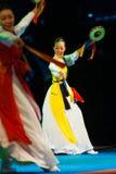 Pretty Korean Woman Traditional Dance Sogo Drum Stock Photo