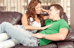 Pretty lady flirting Stock Image