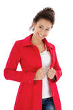 Pretty lady in red Royalty Free Stock Photo