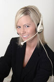 Pretty lady switchboard operator Royalty Free Stock Photo