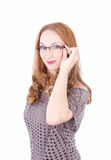 Pretty lady wearing glasses Stock Image