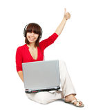 Pretty laptop girl Royalty Free Stock Image