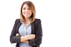 Pretty Latin businesswoman isolated Royalty Free Stock Image