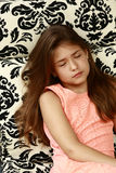Pretty latina girl sleeping Royalty Free Stock Photos
