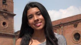 Pretty Latina Teen Girl At Church. A young teen hispanic female stock photos