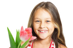 Pretty laughing little girl Stock Photos