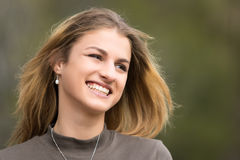 Pretty Laughing Teenage Girl Stock Photo