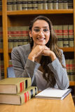Pretty lawyer in the law library Stock Photography
