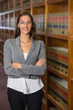 Pretty lawyer in the law library Stock Image