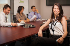 Pretty laywer in a meeting room Royalty Free Stock Image