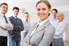 Pretty leader Royalty Free Stock Images