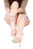 Pretty legs Royalty Free Stock Photos