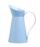 Pretty light blue pitcher. Pretty blue pitcher useful utensil all purpose use Stock Photos