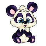 Pretty little baby panda illustration Stock Image