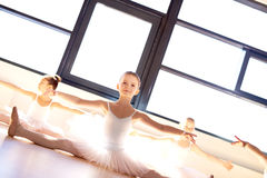 Pretty little ballerina in ballet class Stock Photo