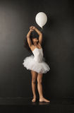 Pretty little ballet dancer with a ballon Royalty Free Stock Images
