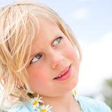 Pretty Little Blond Girl Stock Photos