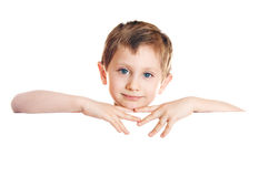Child on white background Stock Photography