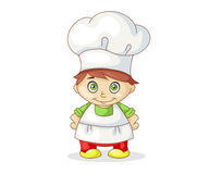 Pretty little chief-cooker Royalty Free Stock Images