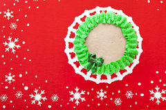 Pretty Little Christmas Cake Royalty Free Stock Photography