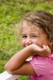 Pretty little girl. Portrait of a little girl with smiling expression Royalty Free Stock Images