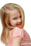 Pretty Little Girl. Little girl gives a fun glance at the camera Royalty Free Stock Photos