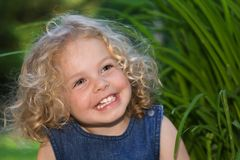 Pretty little girl stock images