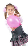 Pretty little girl with balloon Stock Images