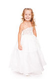 Pretty little girl in beautiful white dress Royalty Free Stock Image