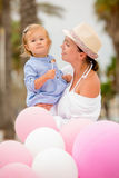 Pretty little girl at a birthday party Royalty Free Stock Photos