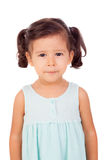 Pretty little girl with blue dress Stock Images