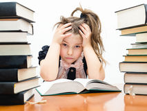 Pretty little girl with books Royalty Free Stock Images