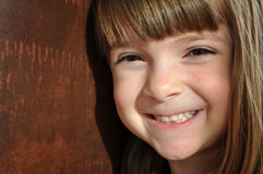 Pretty little girl with bright smil Royalty Free Stock Images
