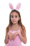 Pretty little girl in bunny ears Stock Photography