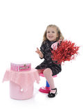 Pretty little girl in children party playing Royalty Free Stock Image