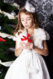 Pretty little girl. Christmas time Royalty Free Stock Photos