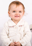 Pretty little girl. Close-up in the studio Royalty Free Stock Photography