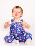 Pretty little girl. Close-up in the studio Royalty Free Stock Image