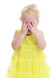 Pretty little girl crying Stock Photography