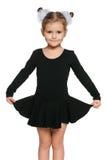 Pretty little girl dancing Royalty Free Stock Photos