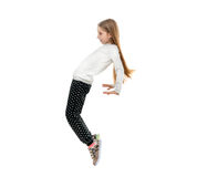 Pretty little girl dancing with a trick on toes Stock Images