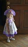 Pretty little girl in doorway Royalty Free Stock Photo